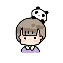 あたまのパンダ。 プリ画像