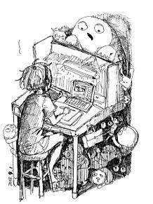 上久郎さんのライブ観ながら描いたやつの画像(一発書きに関連した画像)