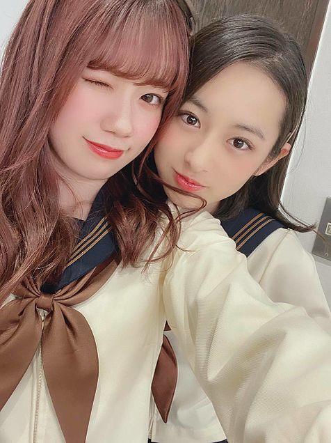 AKB48  チーム8 服部有菜 長谷川百々花の画像(プリ画像)