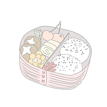 お弁当×恋の画像(プリ画像)