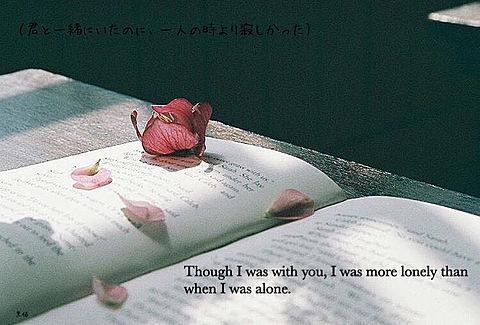 君と一緒にいたのに、一人の時より寂しかったの画像(プリ画像)