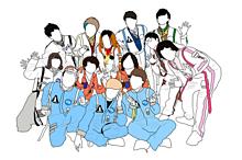 パオ溜りオンエアバンティーズ 線画の画像(線画に関連した画像)