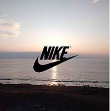NIKEロゴ       朝日☀️の画像(朝に関連した画像)