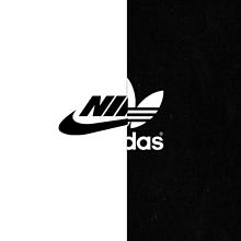 NIKE adidas     白・黒 プリ画像
