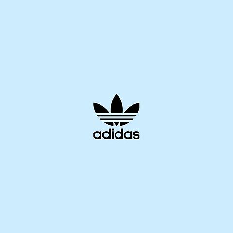 adidas   水色の画像(プリ画像)