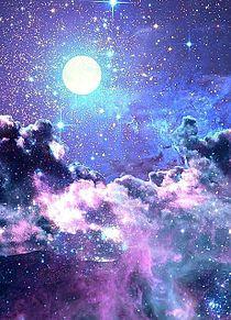 不思議な月 プリ画像