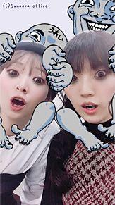 進撃の巨人麻里奈ちゃんと由依ちゃんww プリ画像