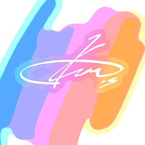 七種茨 サイン 背景透過 あんスタ 虹色 レインボーの画像(プリ画像)