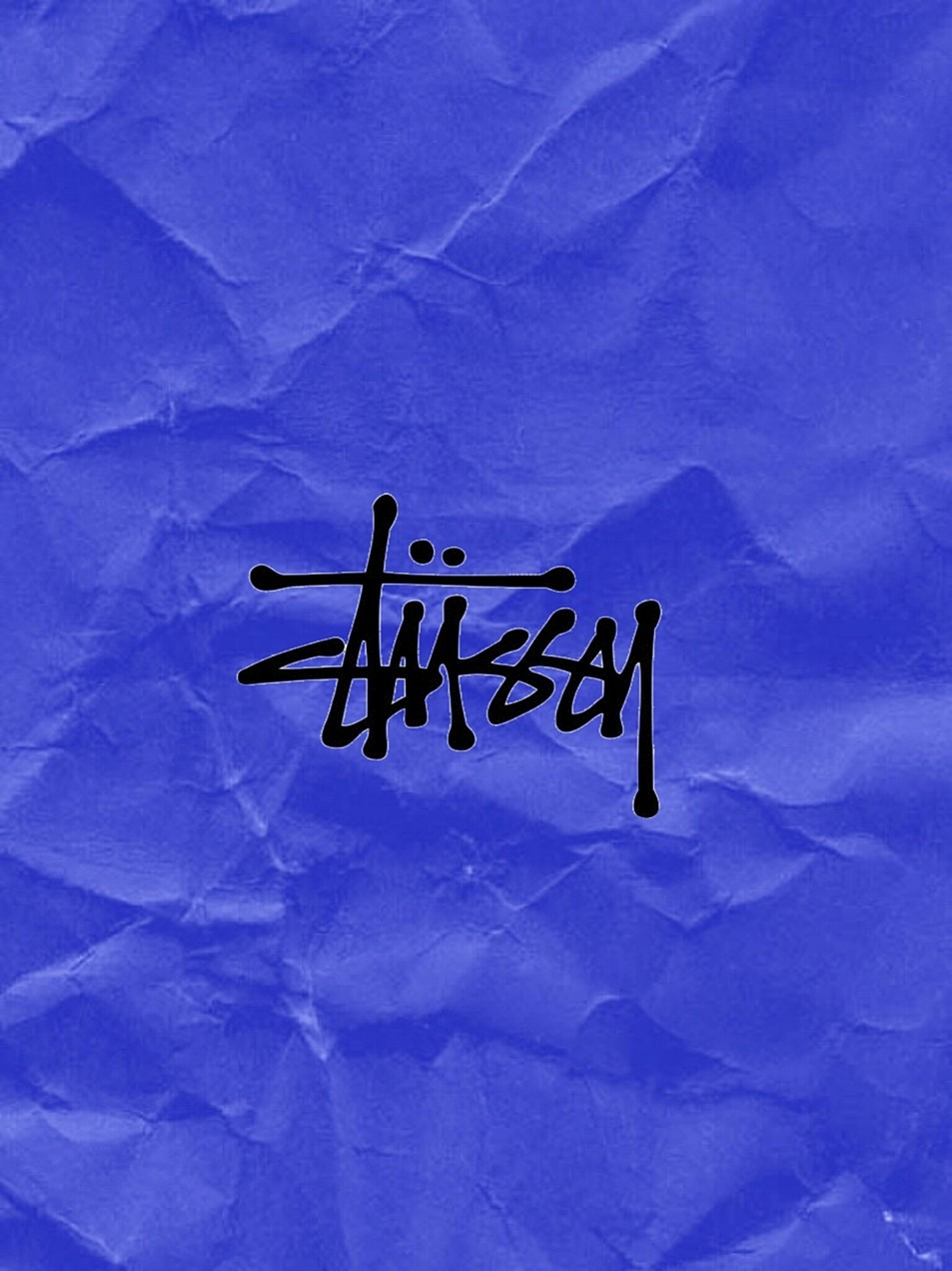 青のペーパー風ステューシー
