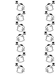 キンブレシートフレームデザイン 素材の画像(ポムポムプリンに関連した画像)