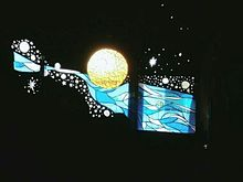 月の画像(ステンドガラスに関連した画像)