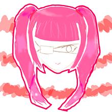 眼帯女子2 プリ画像