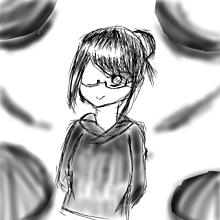 眼鏡×黒パーカーの画像(女の子 イラストに関連した画像)