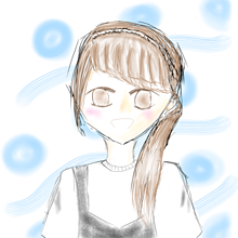 茶髪女子 プリ画像
