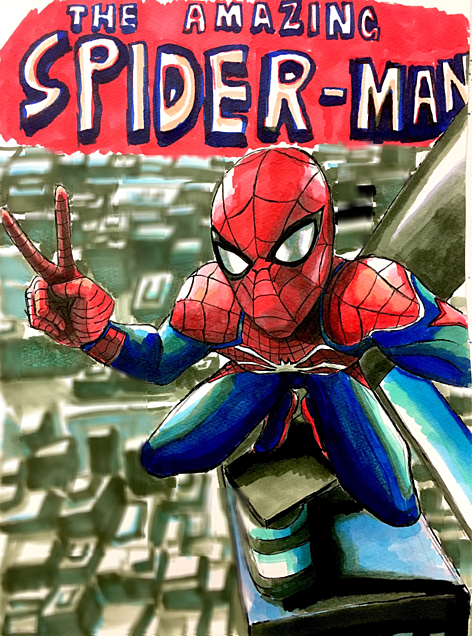 スパイダーマン 自撮りの画像(プリ画像)