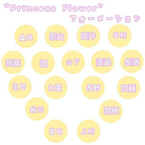 3rd single Princess Flower フォーメーの画像(プリ画像)