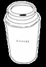 スタバ風スタンプ プリ画像