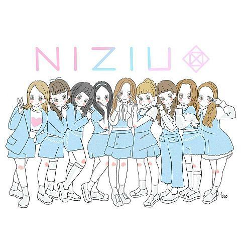 NiziUのゆるゆるイラストの画像 プリ画像