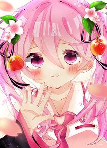 桜ミク プリ画像