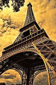夕暮れのエッフェル塔の画像(プリ画像)