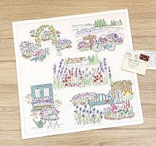 ラベンダーの刺繍 ホビーラホビーレ おしゃれの画像(刺繍に関連した画像)