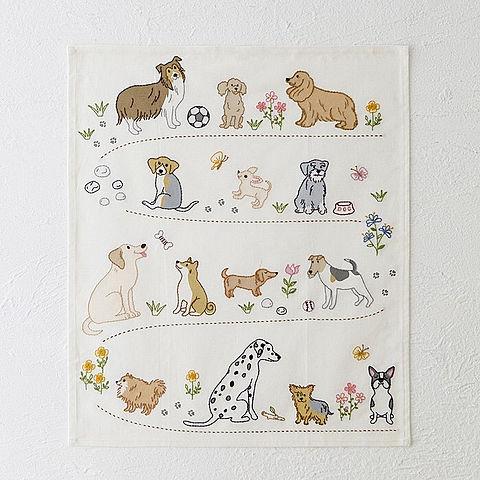 犬の刺繍 ホビーラホビーレ おしゃれ  いいねを押してね!の画像 プリ画像