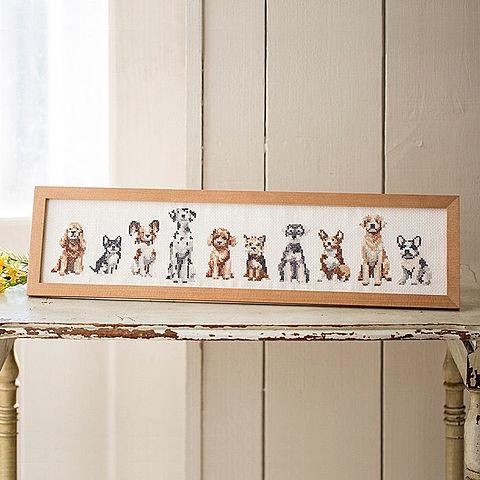 犬の刺繍 ホビーラホビーレ おしゃれ  いいねを押してね!の画像(プリ画像)
