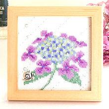 アジサイとかたつむりの刺繍 ホビーラホビーレ プリ画像