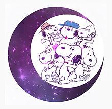 スヌーピー 月加工 宇宙柄の画像(プリ画像)