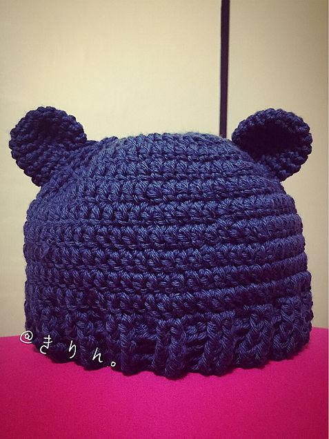 クマさんニット帽の画像(プリ画像)