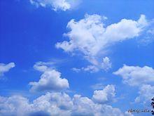 爽やかな青空と白い雲 プリ画像