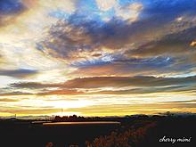夕焼け。明日も良い1日になりますように☆の画像(空 風景に関連した画像)