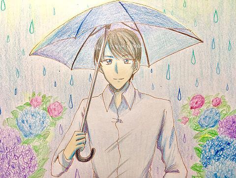 傘と景光の画像 プリ画像