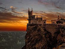 ツバメの巣: スワローズネスト城の画像(ウクライナに関連した画像)
