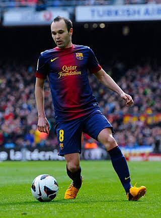サッカー選手のアンドレスイニエスタかっこいい
