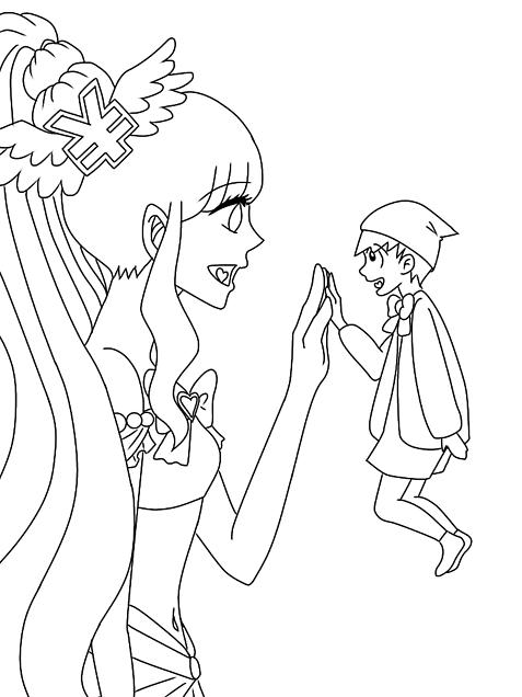 魔法少女の十四松の線画