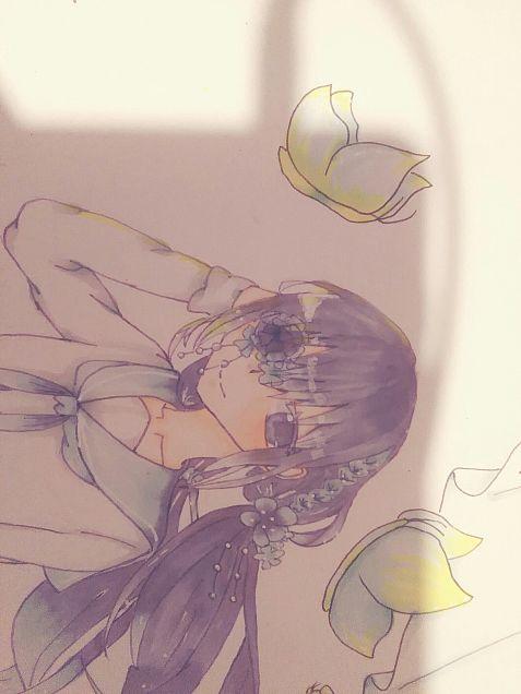 花びら少女の画像(プリ画像)