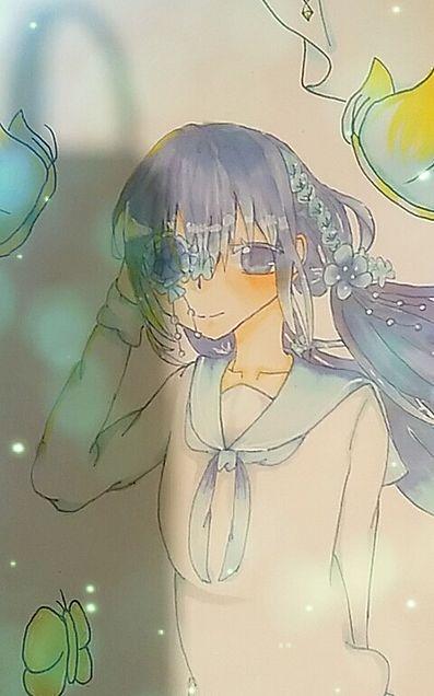 花びら少女の画像 プリ画像