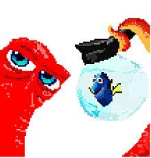ドリーとハンク ドット絵の画像(ファインディング・ドリーに関連した画像)
