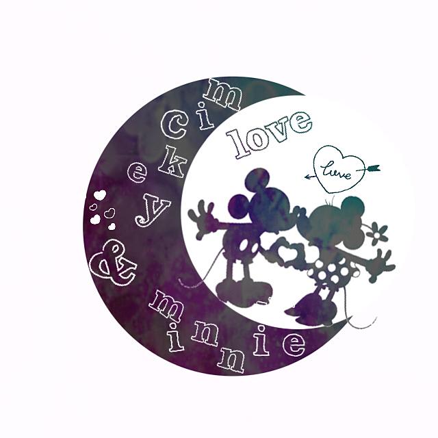 ミッキー ミニー 月形アイコンの画像(ミッキー ミニー シルエットに関連した画像)