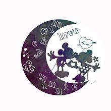 ミッキー ミニー 月形アイコンの画像(プリ画像)