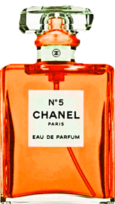 CHANEL 橙色 オレンジ 香水ボトル シャネルの画像(香水 背景に関連した画像)