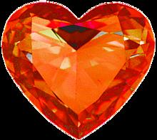 ハート 橙色 オレンジ 宝石 プリ画像