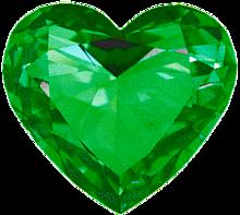 ハート 緑色 グリーン 宝石 プリ画像