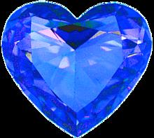 ハート 青色 水色 スカイブルー 宝石 プリ画像