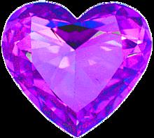 ハート 紫色 パープル 宝石 プリ画像