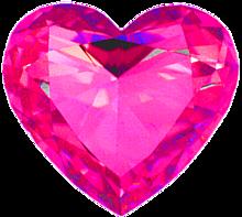 ハート 桃色 ショッキングピンク 宝石 プリ画像