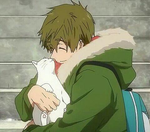 真琴と白猫ちゃん