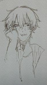 一発描き泣き顔の画像(カゲプロに関連した画像)