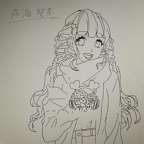 鳴海聖奈ちゃん描いたった!の画像(プリ画像)